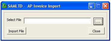 Generic Macro of AP Invoice Import – Sage 300 ERP – Tips, Tricks and