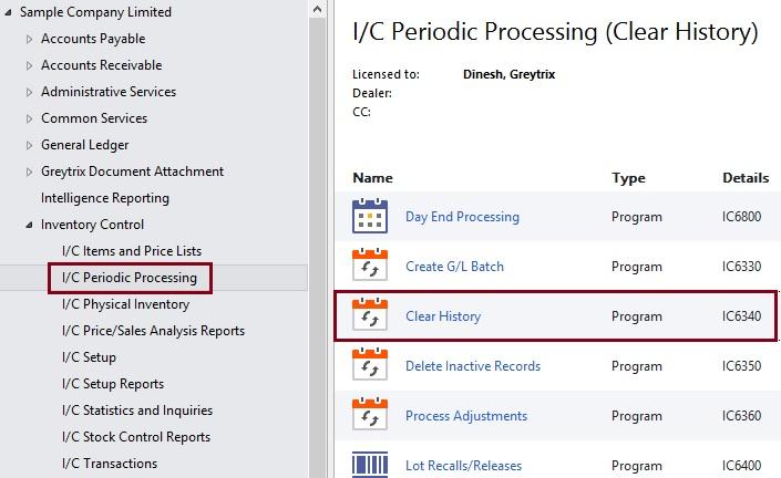 IC periodic processing