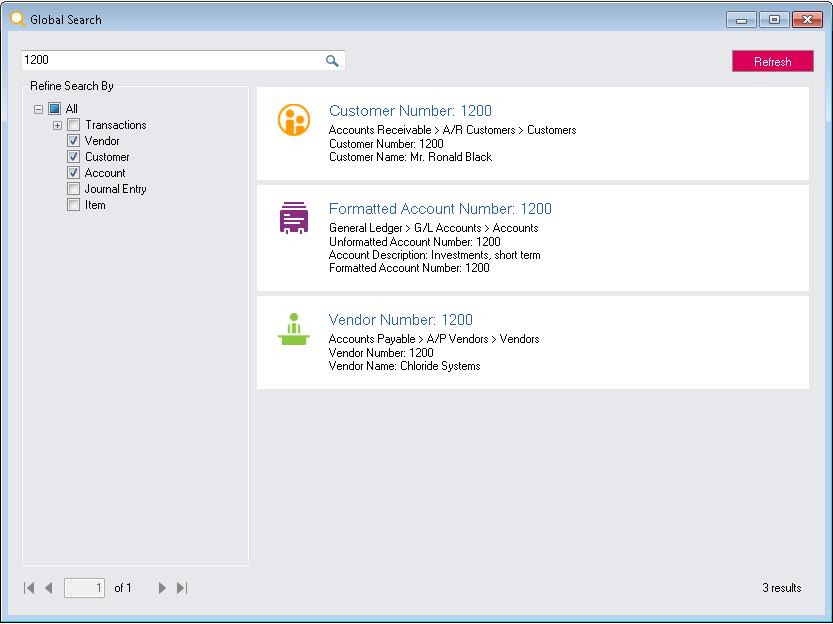 Global Search feature in Sage 300 ERP 2019 Desktop – Sage