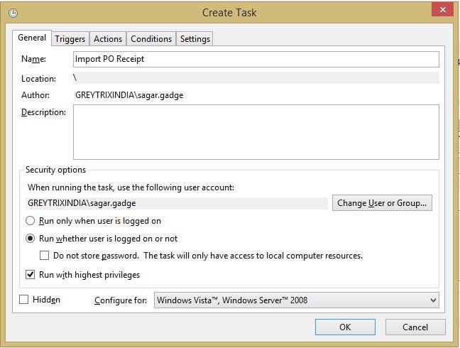 Import into Sage 300 from windows Task Scheduler – Sage 300
