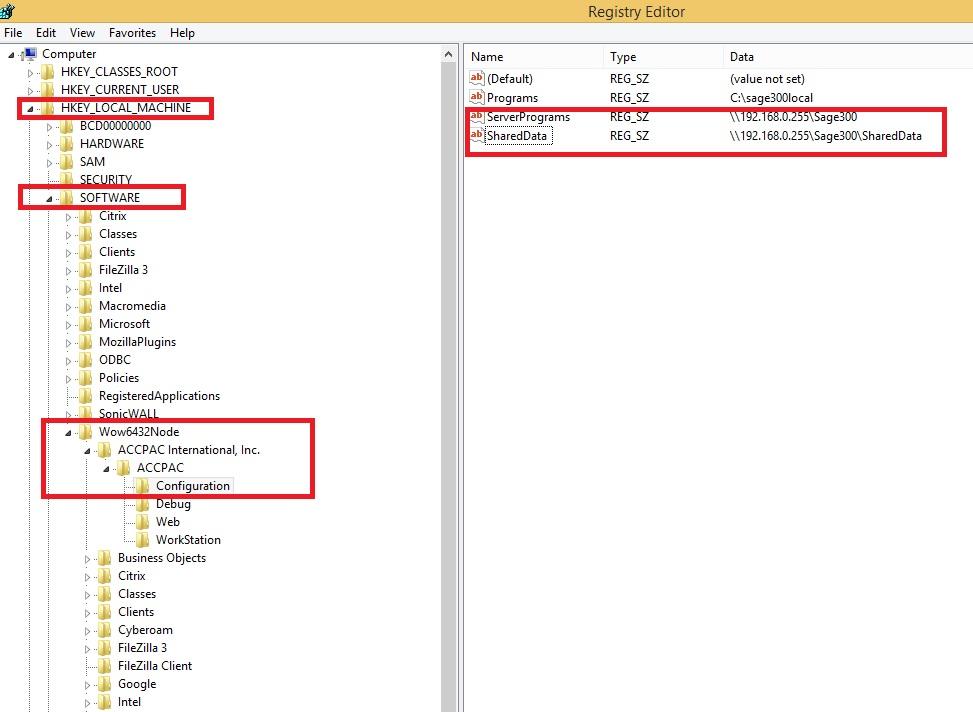Registry Editor screen