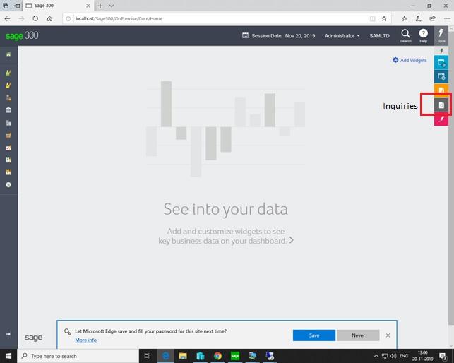 Navigate Screen Inquiries