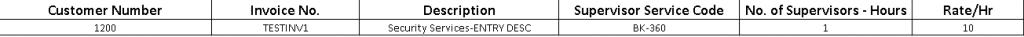 AR Invoice - Import Sheet