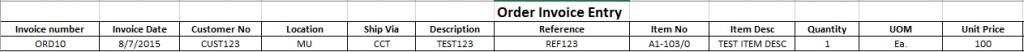 Order Invoice - Export Details
