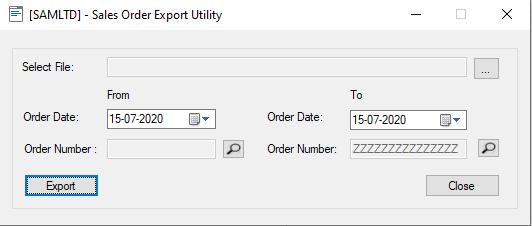 Sales Order - User Interface