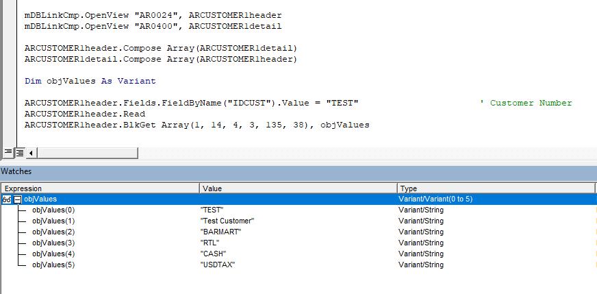 BlkGet COMAPI in VB6.0