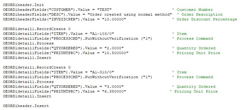 BlkPut using COMAPI in VB6.0