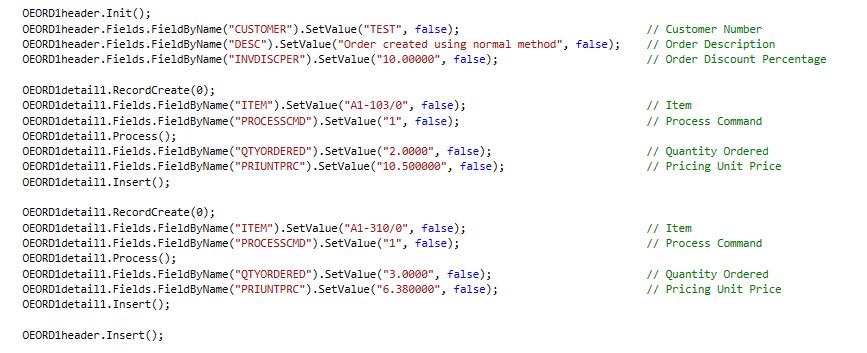 BlkPut Using advantage API in C#