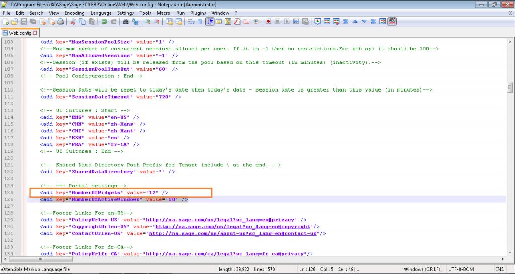 Web.config edit