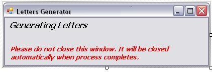 Letter Generator User Interface
