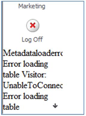 1. Metadata error