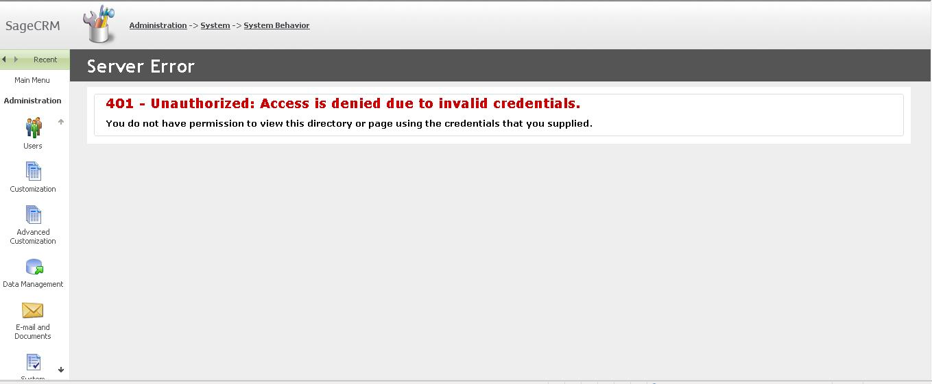 401 – Unauthorized Access is denied due to invalid