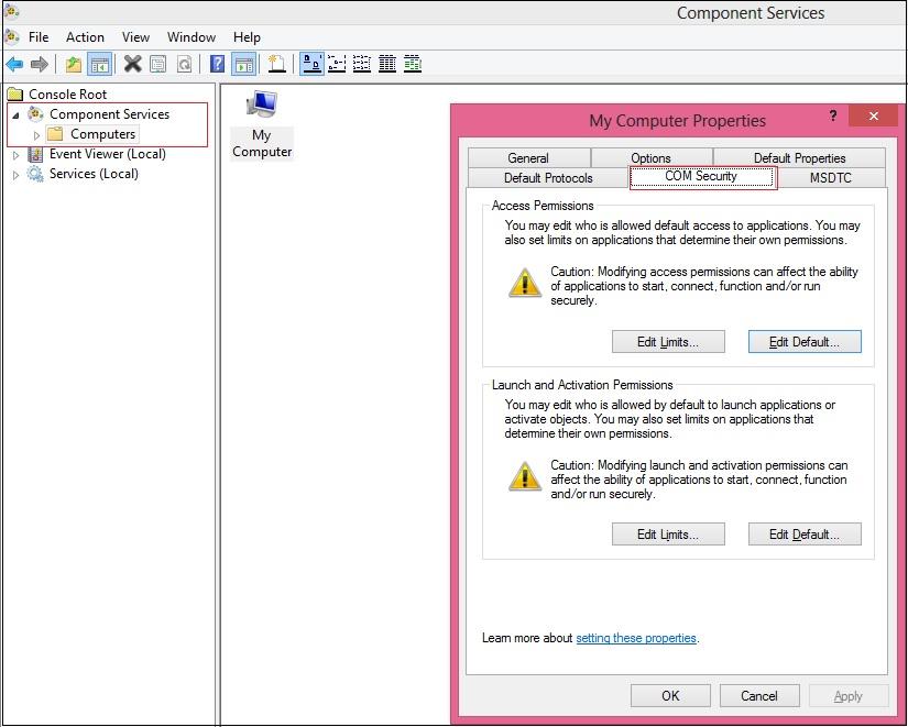DCOM configurations on 64 bit server and 32 bit Microsoft