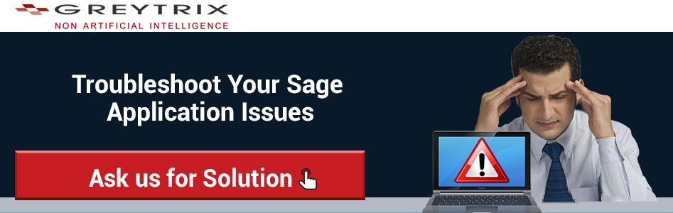 Troubleshoot Sage Issue