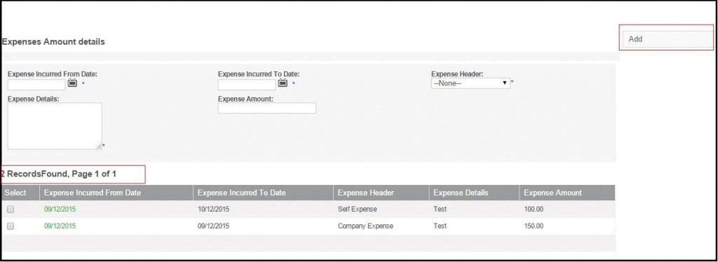 Expences Amount Details