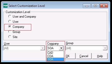 Company Level customization