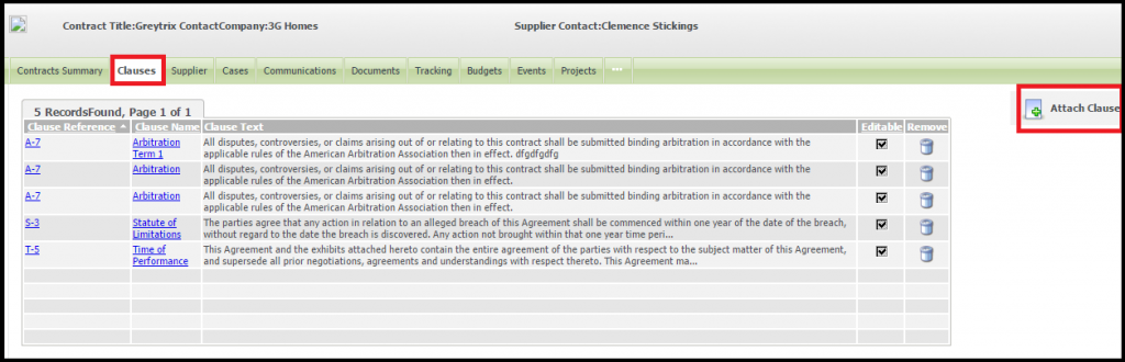 contact management in sage crm Clauses