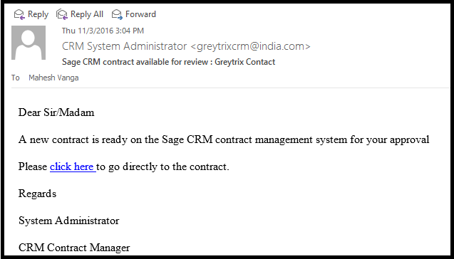 sage crm contact management Email