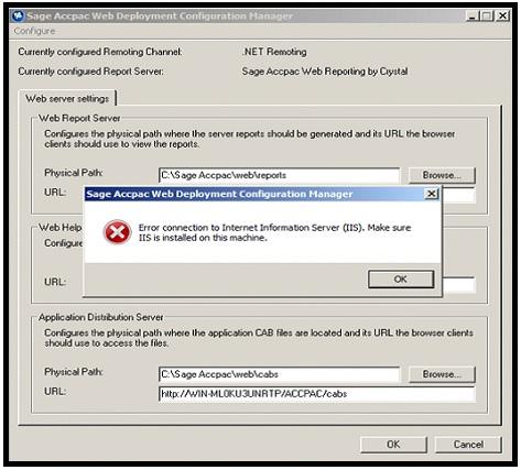 Web Deployment Configuration Manager