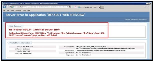 HTTP Error 500.0 – Internal Server Error