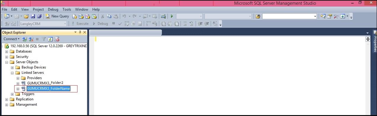 Creating Link Server for integrating multiple Sage X3 folder/server