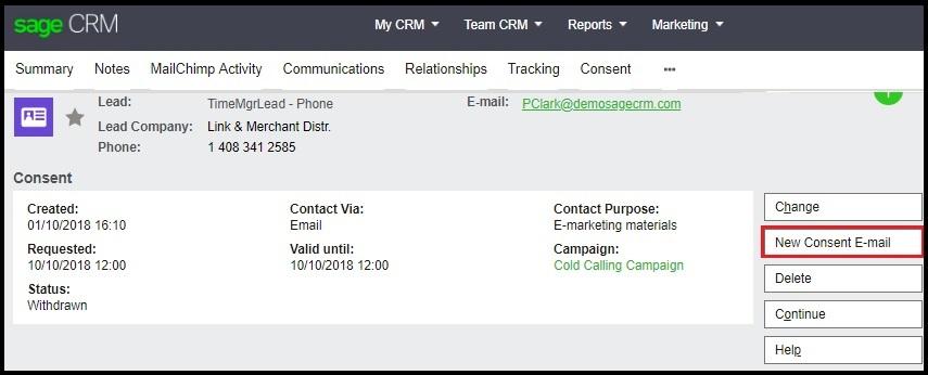New consent E-mail