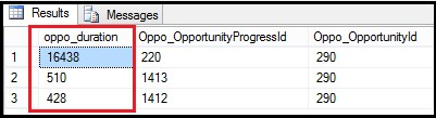 SQL query to get Tracking details