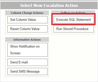 Escalation Actions