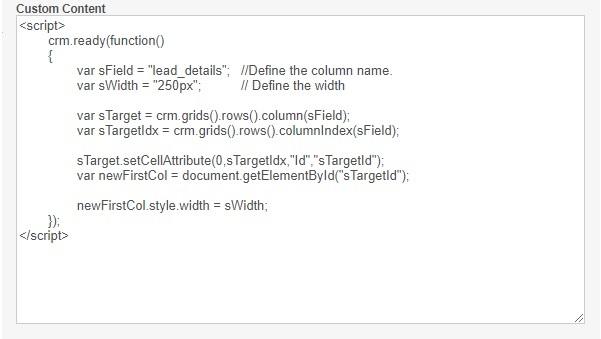 Custom Content Code