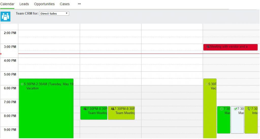 Team CRM Calendar after Color change