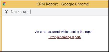 Error generating Report