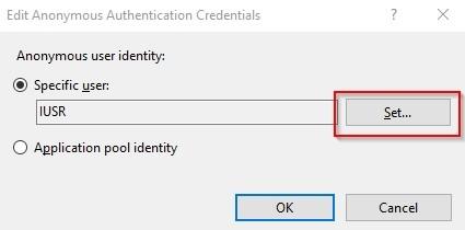 Anonymous User identity