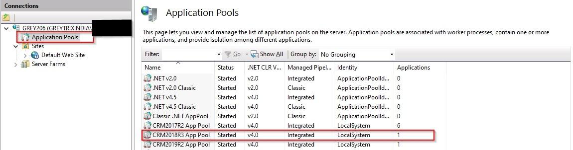 Application Pool