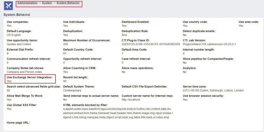 Exchange Server Integration