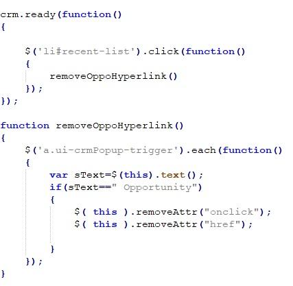 js page for disabling hyperlink