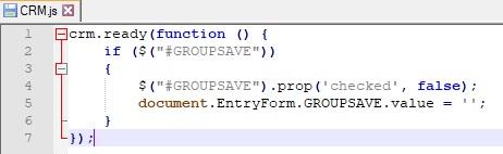 Javascript to deselect the checkbox