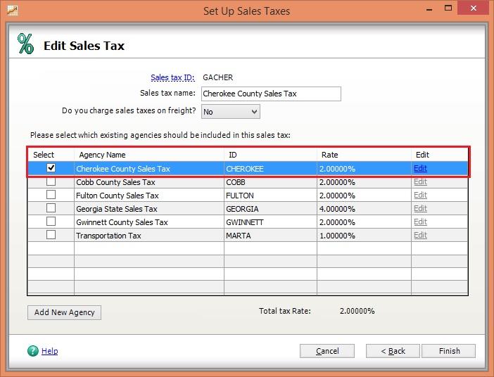 Sage 50 Tax screen