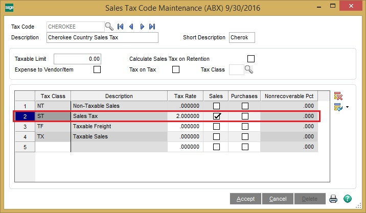 Converted Tax field from Sage 50 US to sage 100