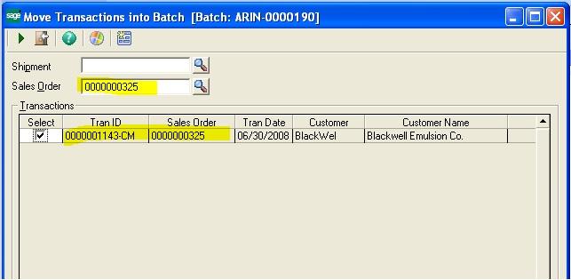 Move transaction into batch