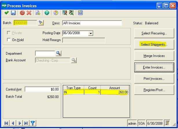 Process Invoice