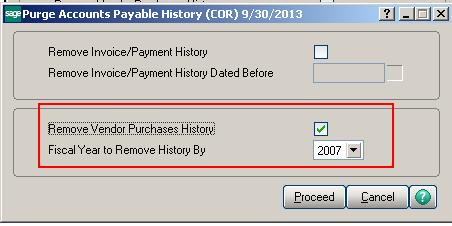 Purge Accounts Payable History