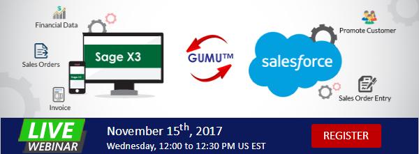 GUMU Integration for Saleforce with sage x3