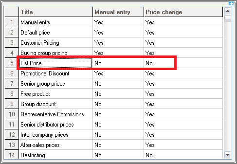How to make gross field editablenon editable using price list 1 navigate to setup sales price list reasons and set the two variables as yesno set price change as no if you dont want the user to change the fandeluxe Images