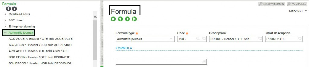 Formulas-Expand Automatic Journal in Sage X3