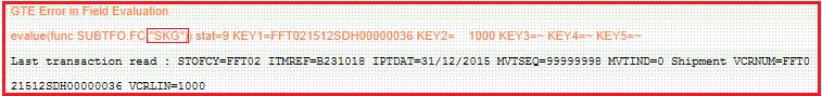 GTE Error in Sage X3