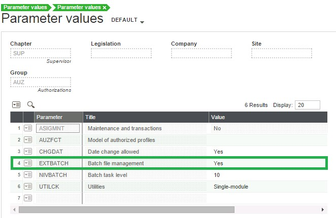 How to enable the 'Use of batch files' in Sage X3? – Sage X3