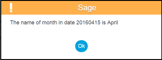 Month Name from Date