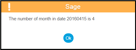 Sage X3 Month Number from Date