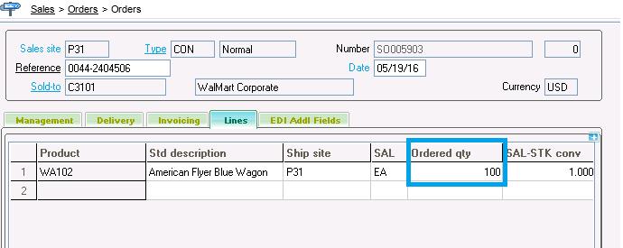 Criteria for Sales Order Line Closing