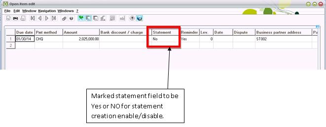 Invoice statement creation